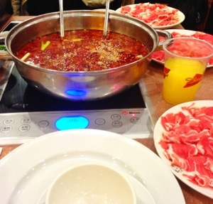 Little Sheep Mongolian Hot Pot - Spicy broth and lamb