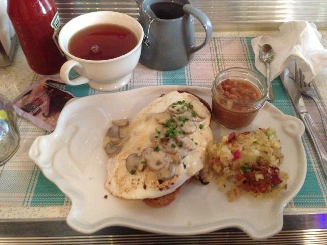 Le Gros Jambon - Mushroom toast