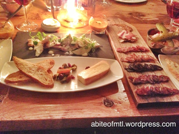 Accords - Charcuterie, Cheese (14 arpents), and Grilled Octopus