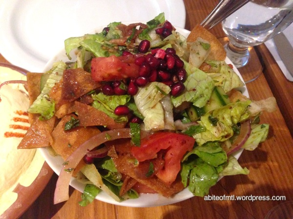 Garage Beirut - Fattouche Mix of fresh vegetables served with fried pita bread