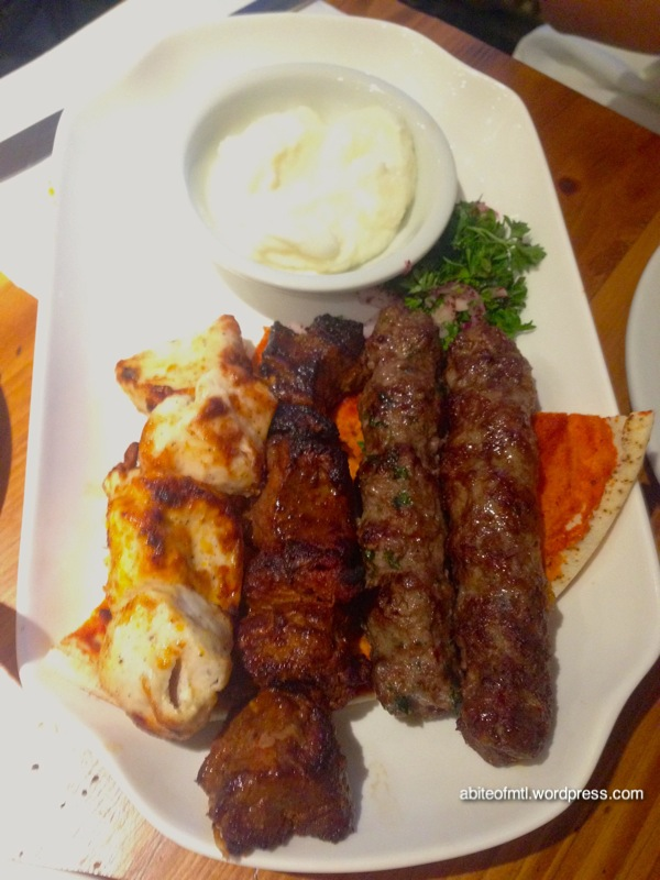 Garage Beirut - Mixed Grill Chicken, filet mignon, beef and lamb kababs