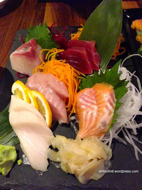 Kyo Bar Japonais - Omakase sashimi Salmon, butter fish, white tuna, red tuna, yellowtail