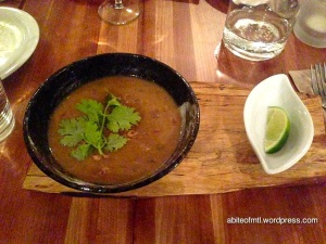 Invitation V - Burmese style chickpea soup with onions, lemon grass and black pepper