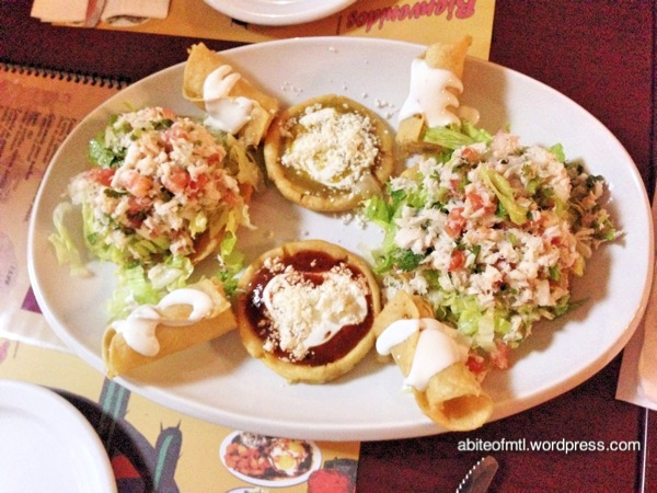 Le petit coin du Mexique - Mixed appetizer Fish tacos