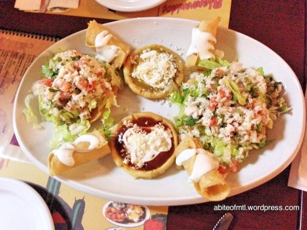Le petit coin du Mexique - Mixed appetizer Fish tacos
