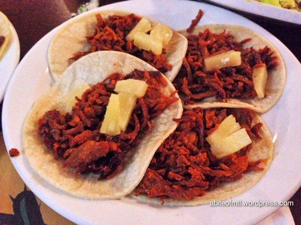 Le petit coin du Mexique - Tacos Al Pastor Tortilla with marinated pork