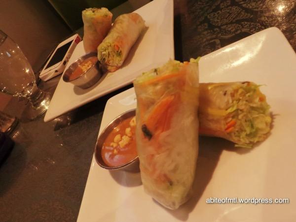 La Petite Mangue - Spring rolls with mango and shrimp