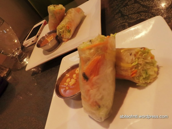 La Petite Mangue - Spring rolls with mango and shrimp