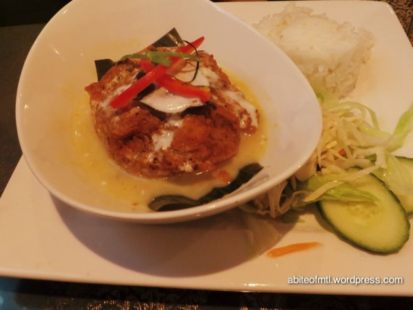 La Petite Mangue - Amok Famous Cambodian fish dish bathed in coconut milk and infused with a lemongrass blend